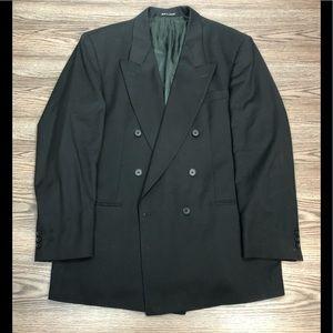 Yves Saint Laurent Black Double Breasted Blazer 44